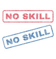 No skill textile stamps vector image