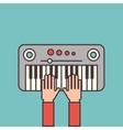 piano instrument icon vector image vector image