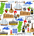 portugal seamless pattern portuguese national vector image vector image