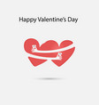 red heart and hand embracevalentines romantic vector image vector image