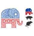 republican elephant polygonal web mesh vector image vector image