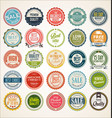 retro vintage badge and label collection 3 vector image vector image