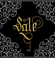 sale of glitter golden hand lettering vector image