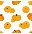 seamless pattern with image yellow pumpkins vector image vector image