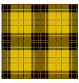 Seamless Yellow Tartan Plaid Design vector image vector image