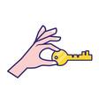 security icon cartoon vector image