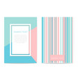 set geometric design cards vector image