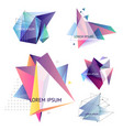 set of abstract triangle vector image vector image