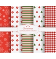 set of winter holiday seamless patterns vector image