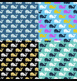 set whale seamless patterns vector image vector image