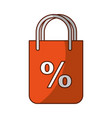 shopping bag with percent symbol vector image vector image