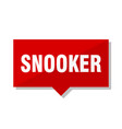 snooker red tag vector image vector image