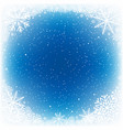 snowy blue water hole vector image vector image