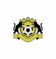 soccer emblem logo vector image vector image