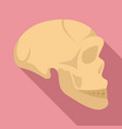 stone age man skull icon flat style vector image vector image