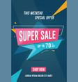 super sale flyer vector image vector image