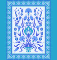 traditional oriental floral design in blue