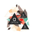 triangle infographics design layout vector image vector image