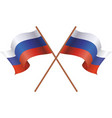 two flag of russia vector image vector image