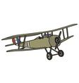 Vintage military biplane vector image vector image
