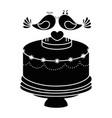 wedding cake icon vector image vector image