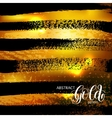 abstract grunge black and gold pattern template vector image