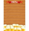 Blank Pub Menu Wooden Background vector image