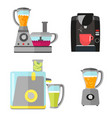 kitchen electrical equipment set for cooking vector image