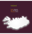 3d map of iceland vector image vector image