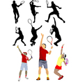 6120 tennis set vector image