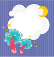 A stationery with a sleeping moon and trees vector image vector image