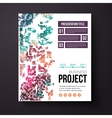 Abstract design template for a business project vector image vector image