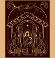 adoration magi mary and jesus vector image vector image