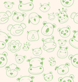 animal head pattern vector image