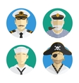 Avatars people profession sailor pirate vector image