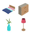 bedroom and room logo set vector image
