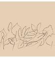 Beige grunge autumn leaves border banner vector image