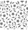 Black and white soccer seamless pattern vector image vector image