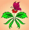 butterfly flower vector image vector image