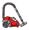 cartoon image of vacuum cleaner vector image