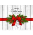 christmas and new year holiday design vector image vector image