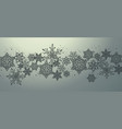 christmas card design with snowflakes background vector image