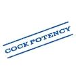 Cock Potency Watermark Stamp vector image vector image