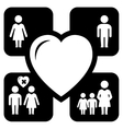 concept family icons vector image vector image