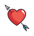 cute arrow heart vector image