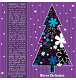 Decorative card with New year tree vector image vector image