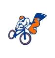 Drive athlete bike snowboard branding sign vector image