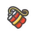 dynamite with fuse icon cartoon vector image