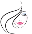 Face of pretty woman silhouette vector | Price: 1 Credit (USD $1)