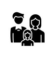 family members black icon concept vector image vector image